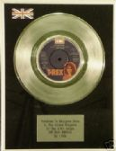 "T REX(Marc Bolan)7""single Platinum Disc(zip gun boogie)"
